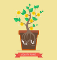 Passive income from equity fund vector image vector image