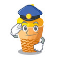 police scoop banana ice cream with cartoon