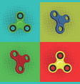 pop art fidget spinner design vector image