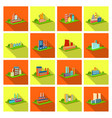 processing factorymetallurgical plant and other vector image vector image