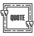 Quote sign icon Quote blank template Speech bubble vector image
