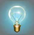 realistic lamp with the symbol vector image vector image
