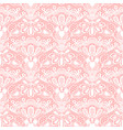 seamless detailed lace pattern on pink background vector image vector image