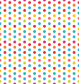 seamless polka dot background colorful pattern vector image