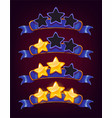 set of colored stars and ribbons vector image