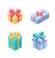 set presents - modern colorful isometric vector image vector image