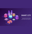smart city infrastructure vector image vector image
