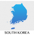south korea map in asia continent design vector image vector image