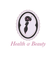 Spa beauty salon logo in a frame vector image vector image
