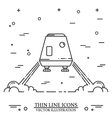 Space module landing on Mars the white background vector image vector image