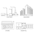 Stock city modern architecture vector image vector image
