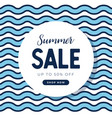 summer sales banner template with blue wave vector image vector image