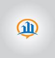 talk bubble building logo vector image vector image