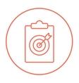 Target board and arrow line icon vector image vector image