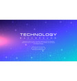 technology banner blue sky background concept vector image