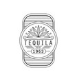 tequila vintage label design alcohol industry vector image
