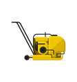 vibratory plate compactor with handle vector image