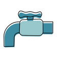 water faucet isolated cartoon vector image vector image