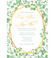 wedding invitation holiday card certificate vector image vector image