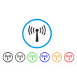 wi-fi station rounded icon vector image vector image