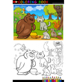 Wild Animals for Coloring vector image vector image