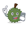 with phone durian character cartoon style vector image vector image