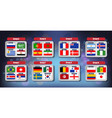 world football championship flags icons of the vector image vector image