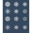 Set of white snowflakes vector image