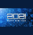 2021 silver number new year card vector image vector image