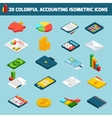 Accounting icons set isometric vector image vector image