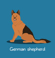 an depicting german shepherd dog cartoon vector image