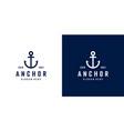 anchor nautical marine seal logo design vector image vector image