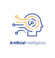 artificial intelligence concept machine learning vector image