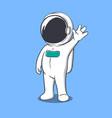 astronaut welcomes us vector image vector image