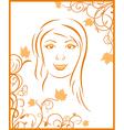 autumn girl portrait vector image vector image