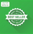 best seller rubber stamp icon business concept vector image vector image