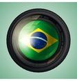 Brazil camera lens vector image