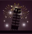 bright fireworks cartoon vector image vector image