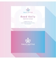 Business Card Qualitative elegant logo and vector image vector image
