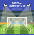 cartoon football championship soccer field banner vector image vector image