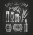 chalk sketch beer vector image