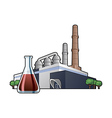 chemicals factory vector image vector image