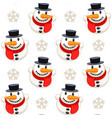 christmas seamless pattern with snowman isolated vector image