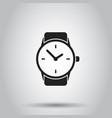 clock watch icon on isolated background business vector image vector image