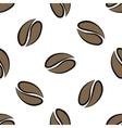 coffee beans seamless vector image vector image