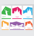 collection of colorful touristic posters with vector image vector image