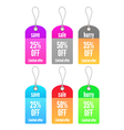colorful shopping tags set vector image vector image