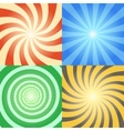 Comic book backgrounds set Retro sunburst vector image
