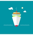 Cruise ship at sea or in the ocean on a sunny day vector image vector image