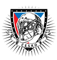 czech republic ice hockey helmet shield vector image vector image